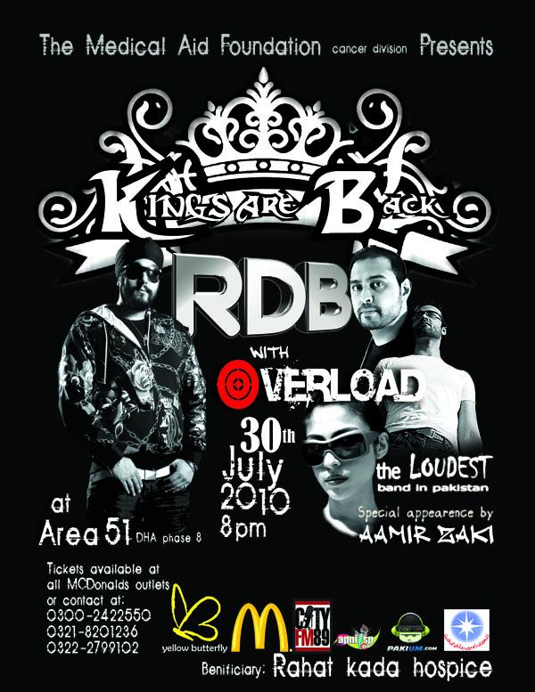 RDB & Overload Concert in Karachi