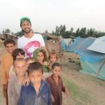 Atif Aslam in flood affected areas
