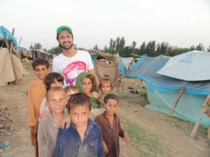 Atif Aslam in flood affected areas
