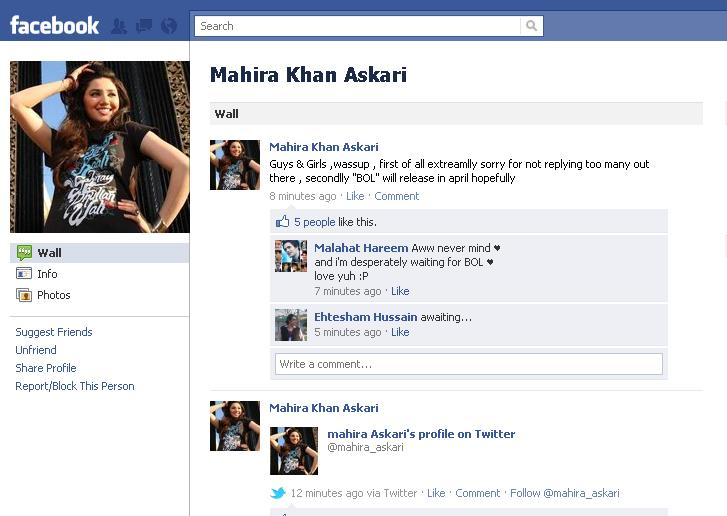 mahira khan about BOL Movie