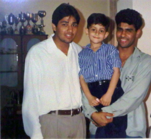 Bilal Khan with Waqar Younis and Inzimam