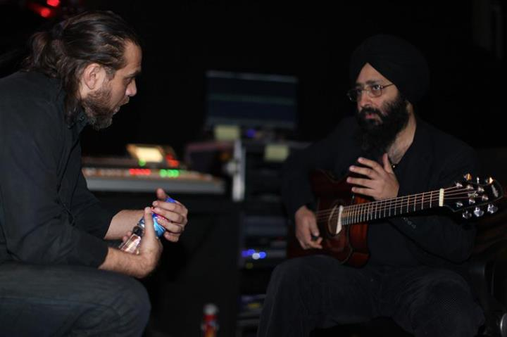 Rabbi Shergill with Rohail Hyatt in Coke Studio