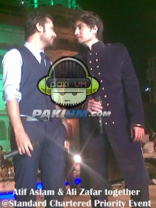 Atif Aslam and Ali Zafar together at Standard Priority Event