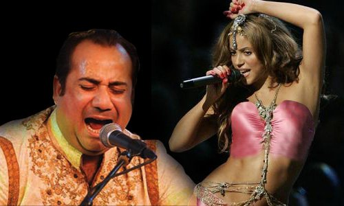 Shakira dances on Rahat Fateh Ali Khan Song