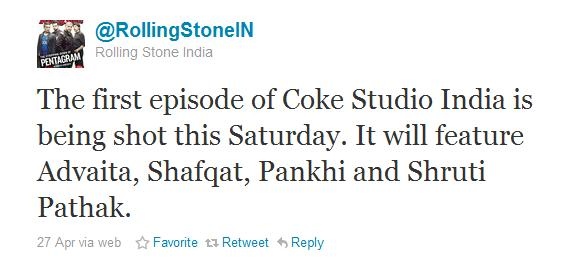 Coke Studio India to debut with Shafqat