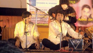 Pakistani Singer Javed Bashir performing in Doha
