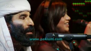 Akhtar Channal Zahri and Komal Rizvi in Coke Studio 2011
