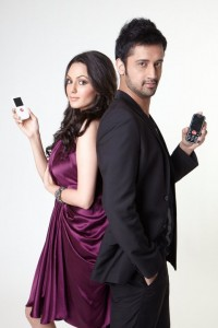 Atif Aslam with Aisha Linnea in QMobile