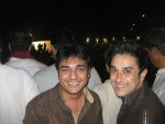Azfar and Mani at PTI Dharna in Karachi