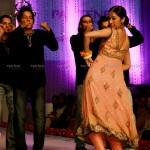 Rabia Chaudhry dancing at Bridal Couture Week