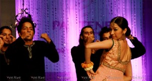 Rabia Chaudhry dancing at Bridal Couture Week