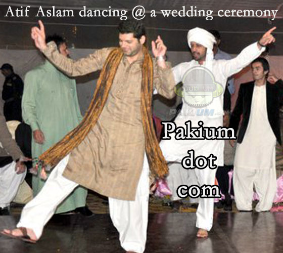 Atif Aslam dancing in a wedding/marriage ceremony