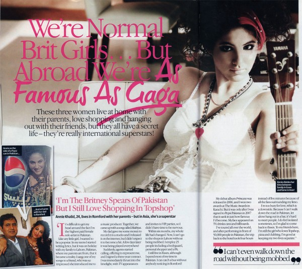 Pakistani Singer Annie Khalid featured in UK Magazine LOOK