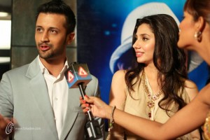 Bol Movie Lahore Premiere Atif Aslam and Mahira