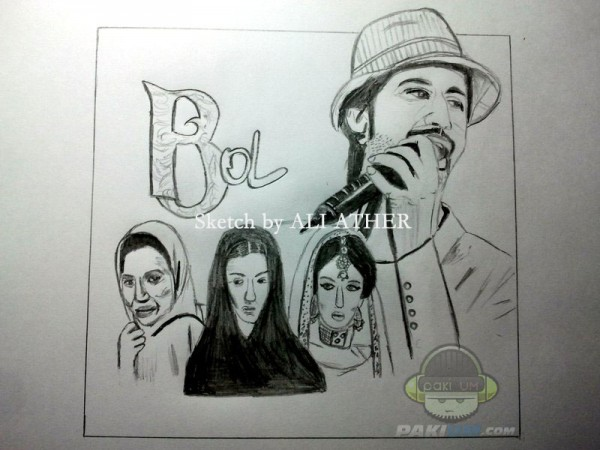 Bol movie Poster, sketched by Ali Ather