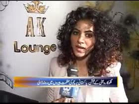 Annie Khalid in her AK Lounge Lahore
