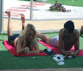 Pamela Anderson with Ashmit in Bigg Boss 4