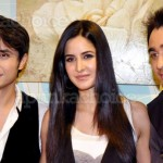 Ali Zafar with Katrina Kaif and Imran Khan on Xfactors Set
