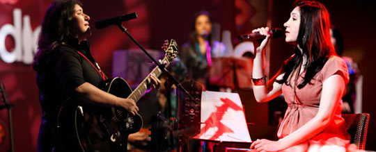 Zeb and Haniya in Coke Studio, now in india