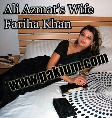 Ali Azmat's Wife and Bride Fariha Khan
