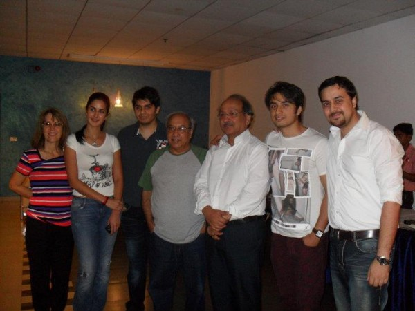 Ali Zafar's friend and family in India for MBKD screening