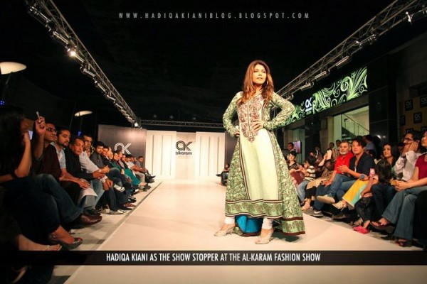 Hadiqa Kiani Walks Al-karam Fashion as Celebrity Show Stopper