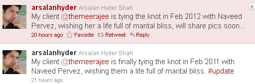 meera PR manager Arsalan Hyder tweets regarding Marriage of Meera