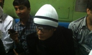 Ali Zafar in Local Mumbai Train with Monkey Cap