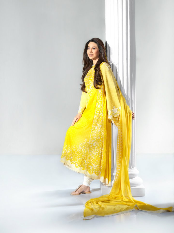 Karisma Kapoor models for Crescent Lawn