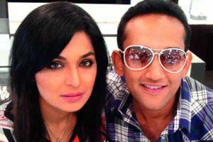 Meera with her fiance Naveed Pervez