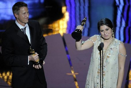 Sharmeen Obaid-Chinoy with her fellow documentarian Daniel Junge