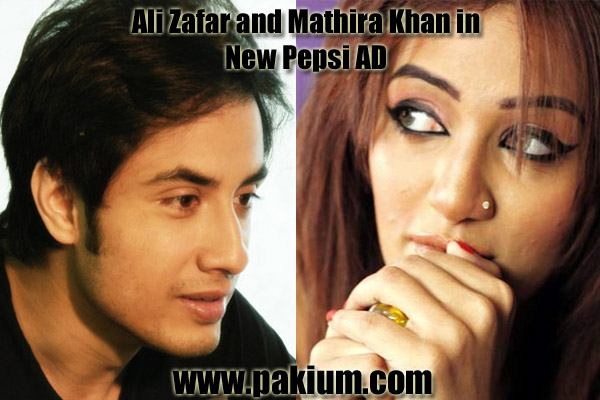 Ali Zafar and Mathira Khan in new Pepsi Ad