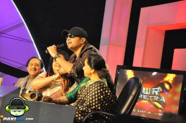 Judges of Sur Kshetra Ustaad Ghulam Ali, Runa Laila and Asha Bhosle