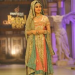 Shaista Wahidi walks on the ramp of Bridal Couture Week 2012