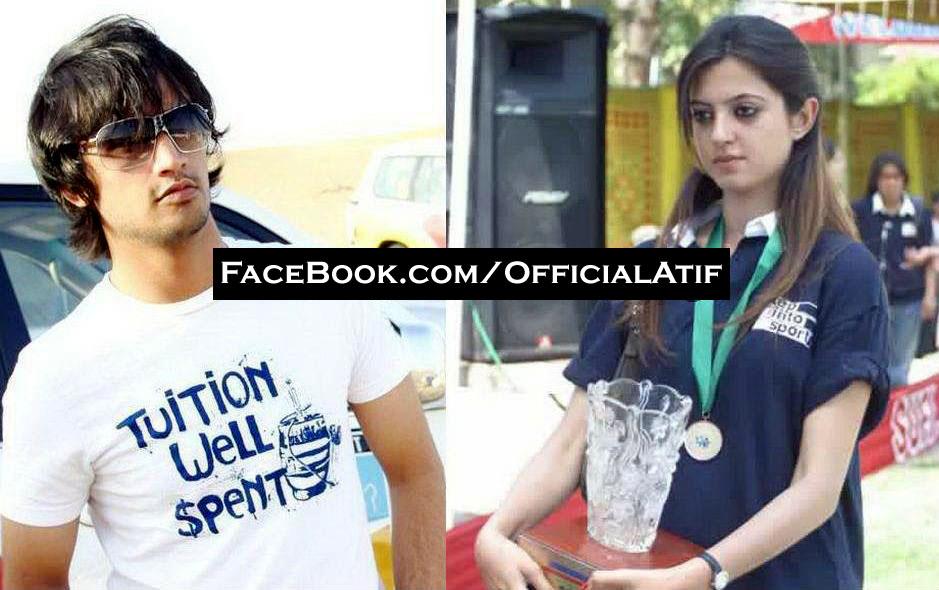 Atif Aslam and Sara bharwana
