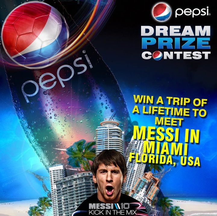 Pepsi Pakistani giving you a chance to meet Messi