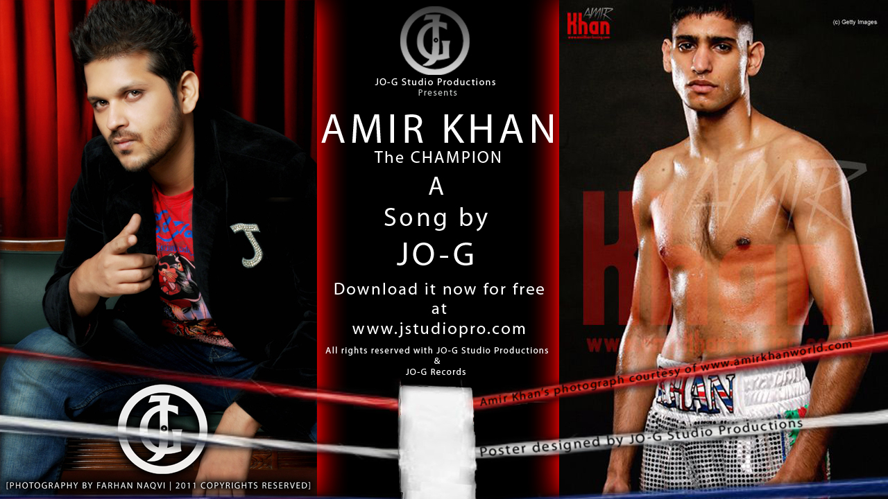 AMIR KHAN Boxer and Jo-g
