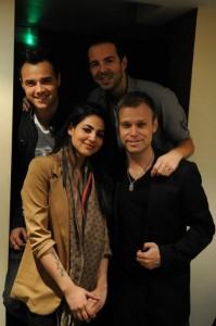 Annie Khalid with A1 Band