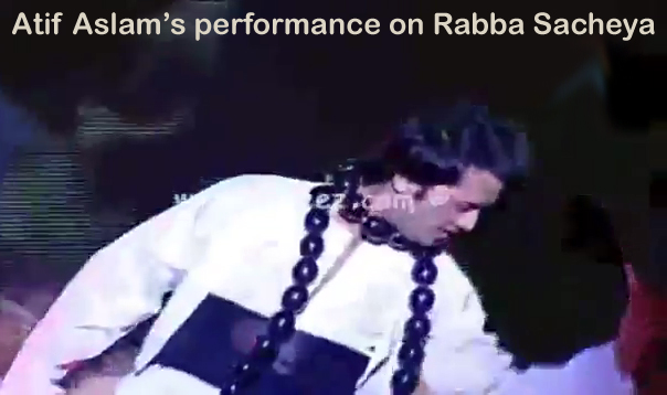 Atif Aslam's sufi dance performance on Rabba Sacheya
