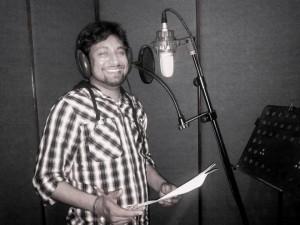 Singer Jabar Abbas in Studio