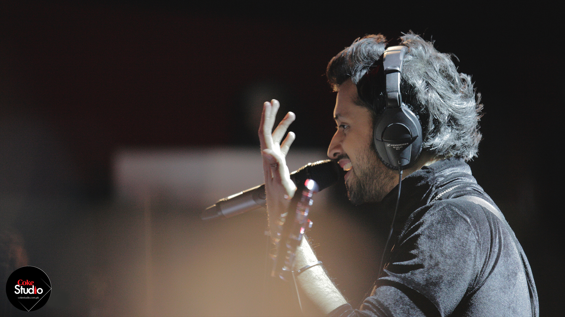 Atif ASlam singing Dholna in Coke Studio