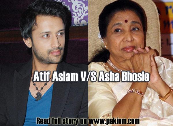 atif aslam upsets asha bhosle in Sur Kshetra recordings