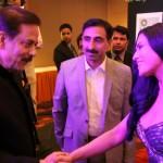 Veena Malik with Subrata Roy at Sahara Channel Launch