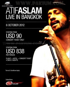 Atif Aslam Bangkok Concert Debut