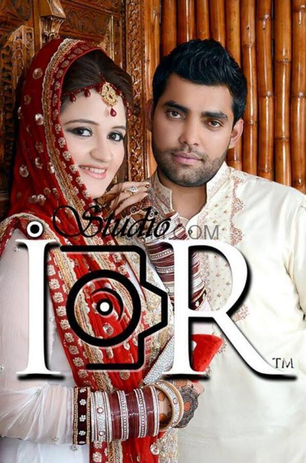 Umer Akmal with newly wedded wife Amna