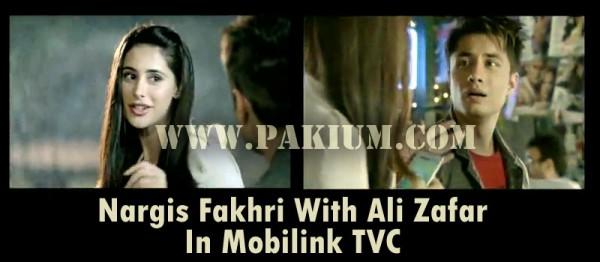 Ali Zafar Nargis Fakhri in Mobilink TVC