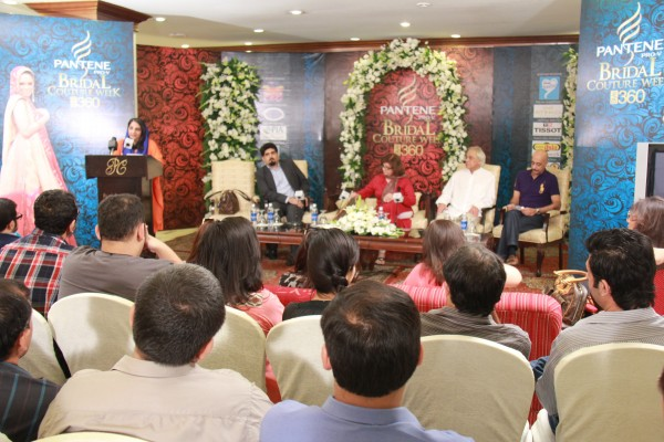 bridal couture week press conference lahore