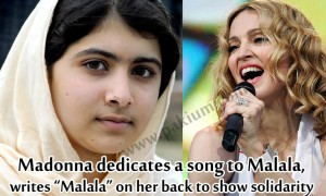 Madonna dedicates a song to Malala YousafZai