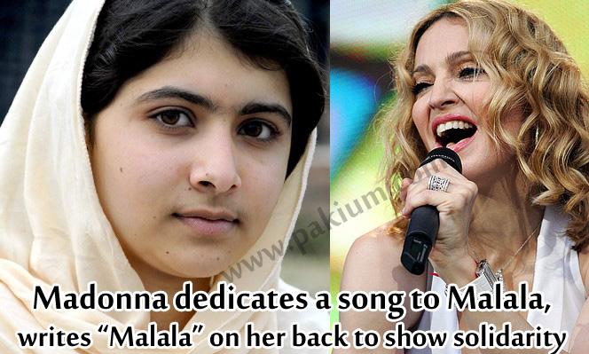 Madonna dedicates a song to Malala YousafZai