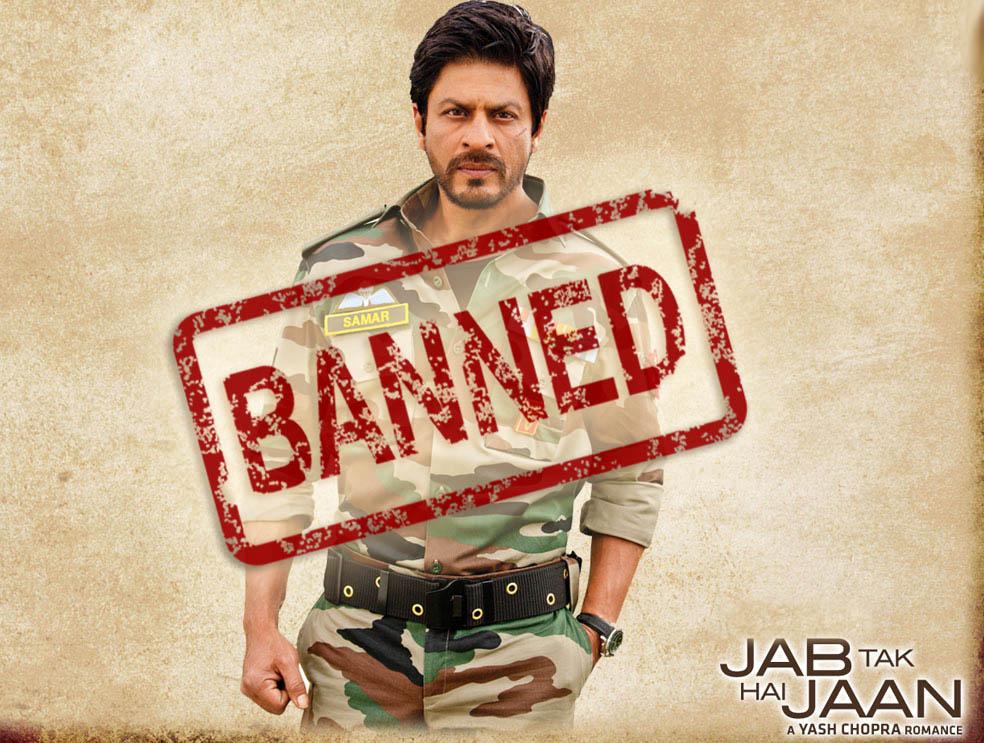 shahrukh khan jab tak hai jaan banned in Pakistan